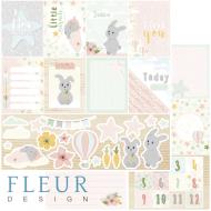 Бумага карточки для девочек, коллекция в облаках