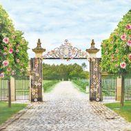 Бумага прогулка в саду, коллекция цветущий сад
