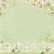 Бумага розовый вьюн, коллекция цветущий сад
