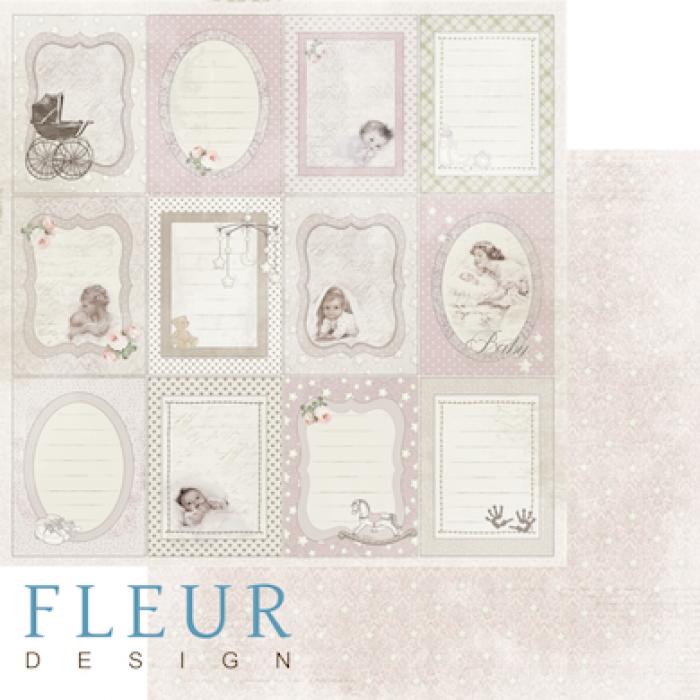 Бумага вертикальные рамочки, коллекция наш малыш девочка для скрапбукинга