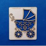 Чипборд детская коляска ажурная