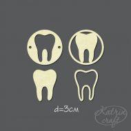 Чипборд фишки зубки