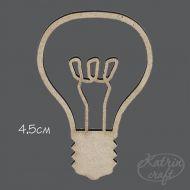 Чипборд лампочка 4,5см