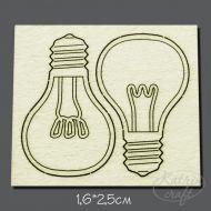 Чипборд лампочки 2,5см