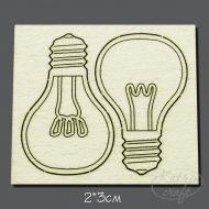 Чипборд лампочки 3см