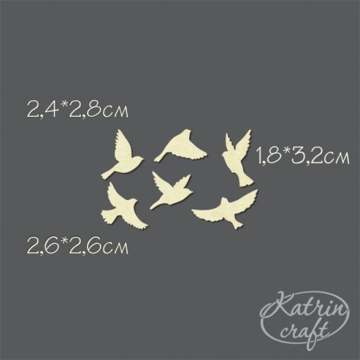 Чипборд набор пташки для скрапбукинга