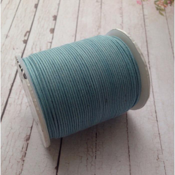 Детский голубой вощёный шнур для скрапбукинга