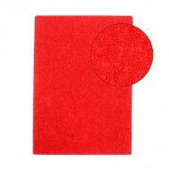 Фоамиран махровый красный 2 мм
