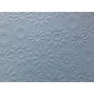 Голубая бумага с тиснением цветы