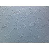 Голубая бумага с тиснением цветы с завитками