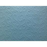 Голубая бумага с тиснением завитки