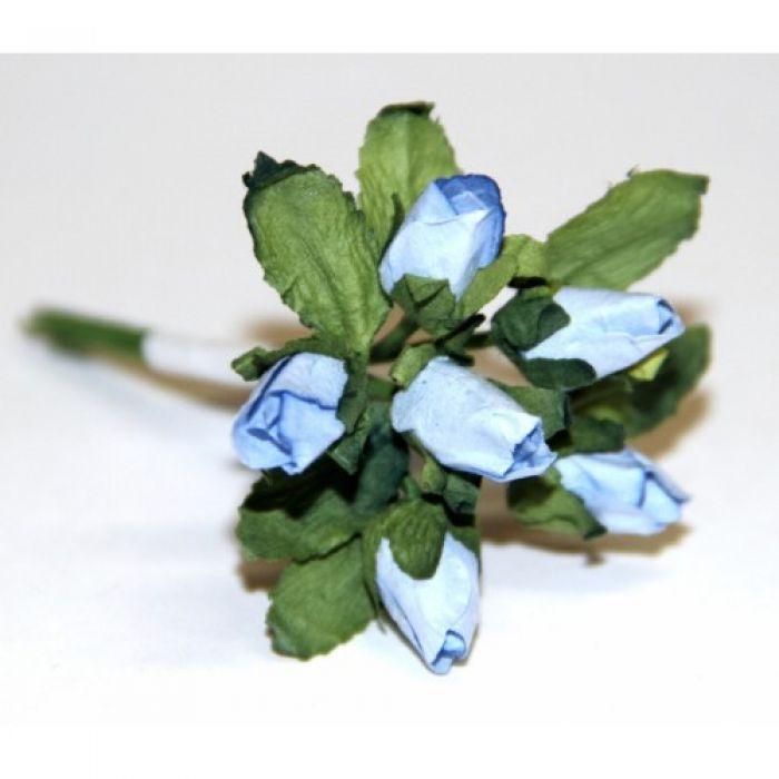 Голубой букет бутонов роз для скрапбукинга