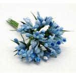 Голубой декоративный букет
