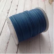 Королевский синий вощёный шнур