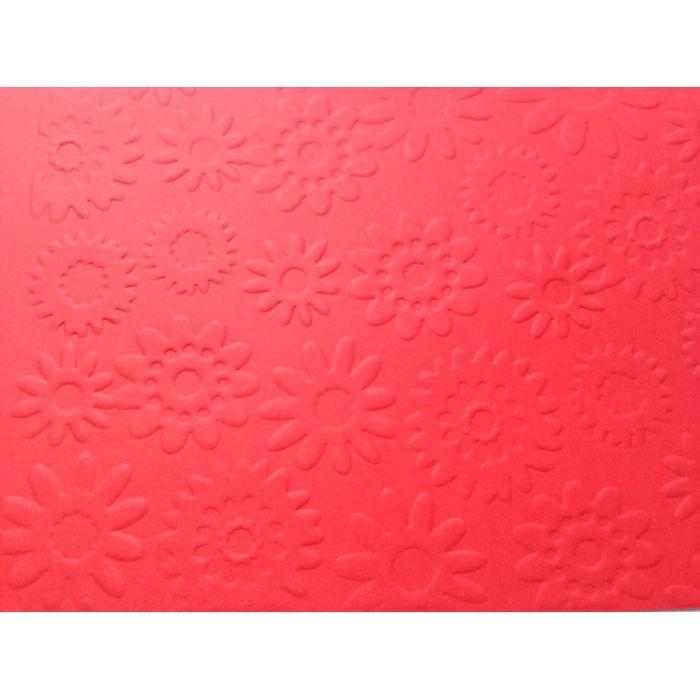 Красная бумага с тиснением цветы для скрапбукинга