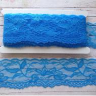 Кружево эластичное голубое 55 мм