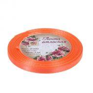 Лента атласная морковная 6 мм