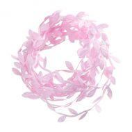 Лента листочки розовые