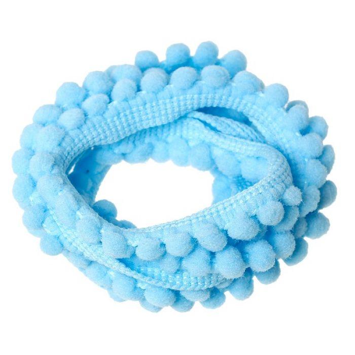 Лента с голубыми помпонами для скрапбукинга