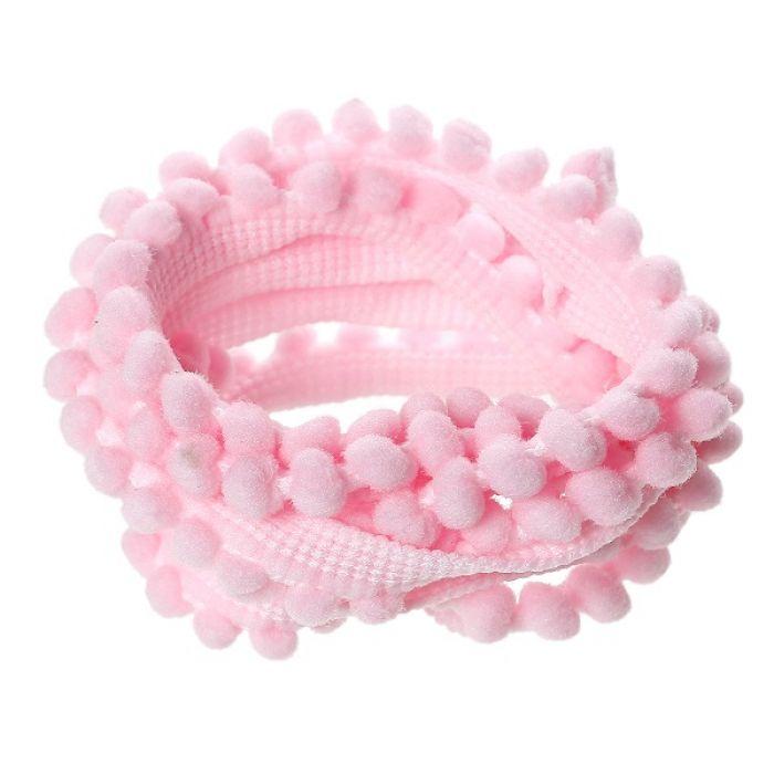 Лента с нежно-розовыми помпонами для скрапбукинга