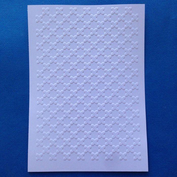 Марокканская плитка - крест, тисненый картон для скрапбукинга