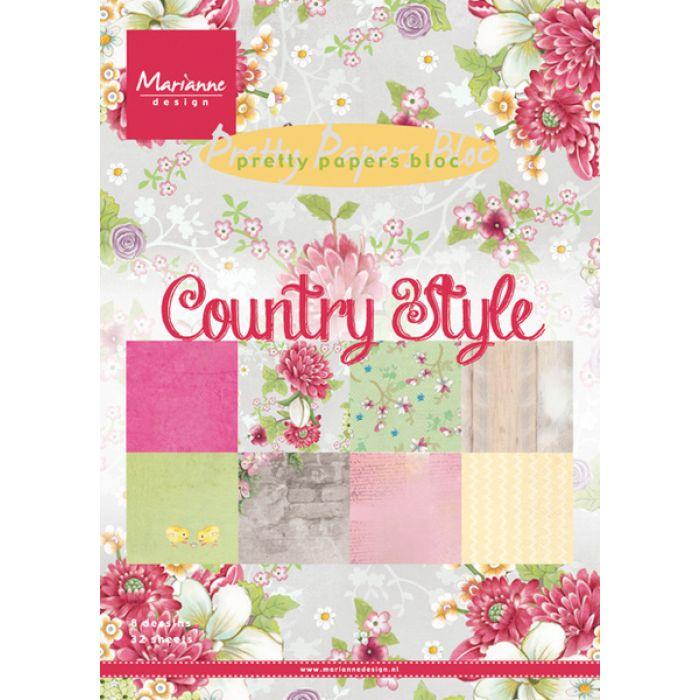Набор бумаги Country Style А5 для скрапбукинга