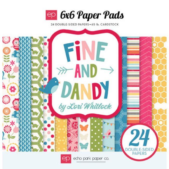 Набор бумаги Fine & Dandy 15 х 15 см для скрапбукинга
