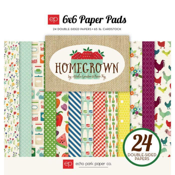 Набор бумаги Homegrown 15 х 15 см для скрапбукинга