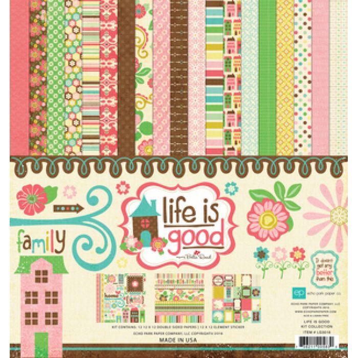 Набор бумаги Life Is Good 30,5 х 30,5 см для скрапбукинга