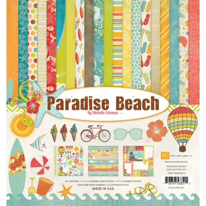 Набор бумаги Paradise Beach 30,5 х 30,5 см для скрапбукинга