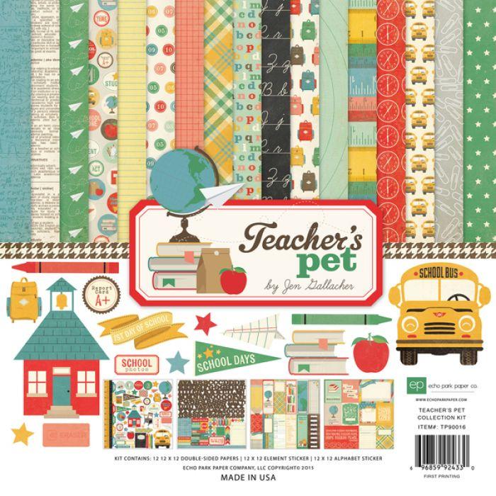 Набор бумаги Teacher's Pet 30,5 х 30,5 см для скрапбукинга