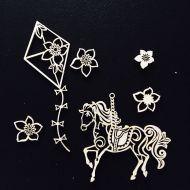 Набор чипборда лошадка