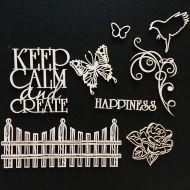 Набор чипборда счастье