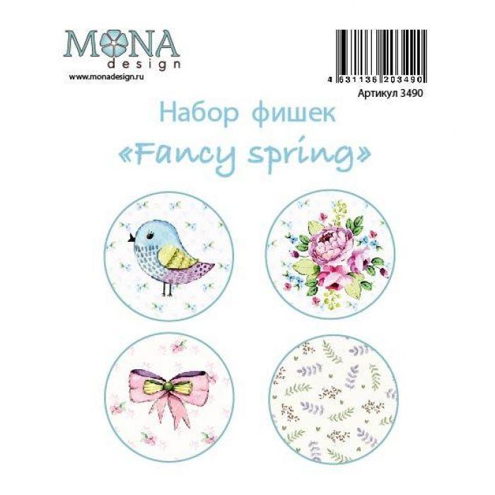 Набор фишек Fancy Spring для скрапбукинга