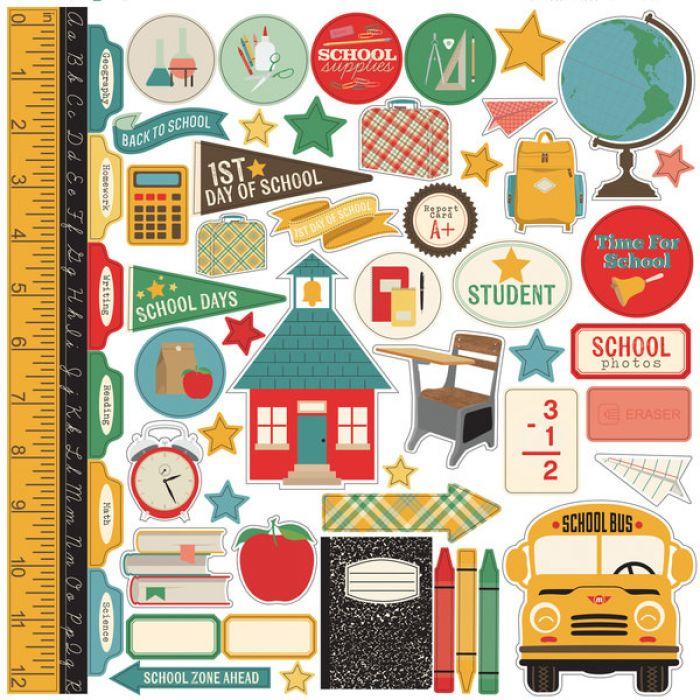 Набор наклеек, коллекция Teacher's Pet для скрапбукинга