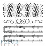 Набор штампов ноты и пузыри фоновые
