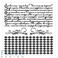 Набор штампов текст и ромбы фоновые