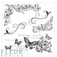 Набор штампов завитки и бабочки