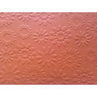 Оранжевая бумага с тиснением цветы
