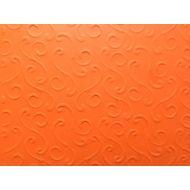 Оранжевая бумага с тиснением завитки
