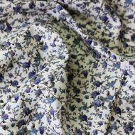Отрез ткани синие розочки