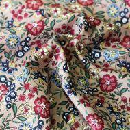 Отрез ткани яркие цветы