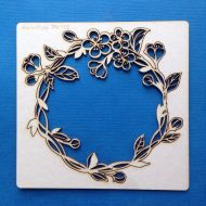 Рамка-венок с цветами вишни