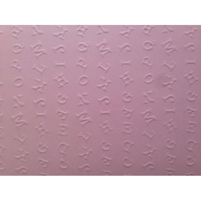 Розовая бумага с тиснением алфавит для скрапбукинга