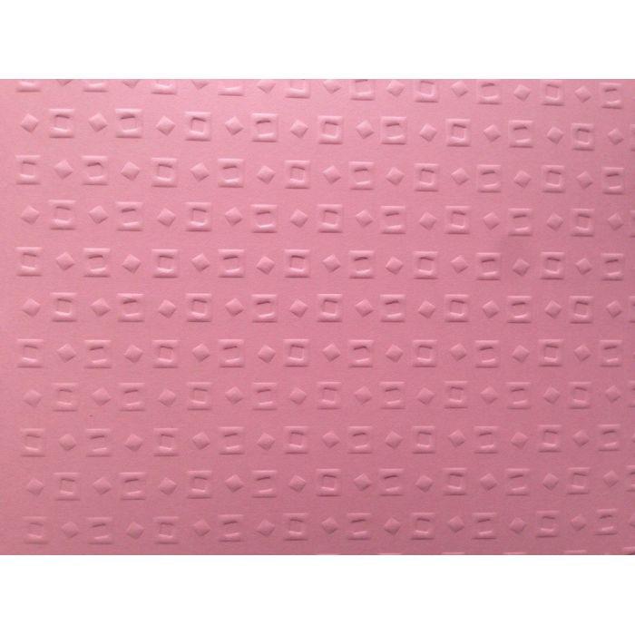 Розовая бумага с тиснением кубики для скрапбукинга