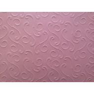 Розовая бумага с тиснением завитки