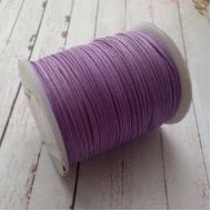 Розово-сиреневый вощёный шнур