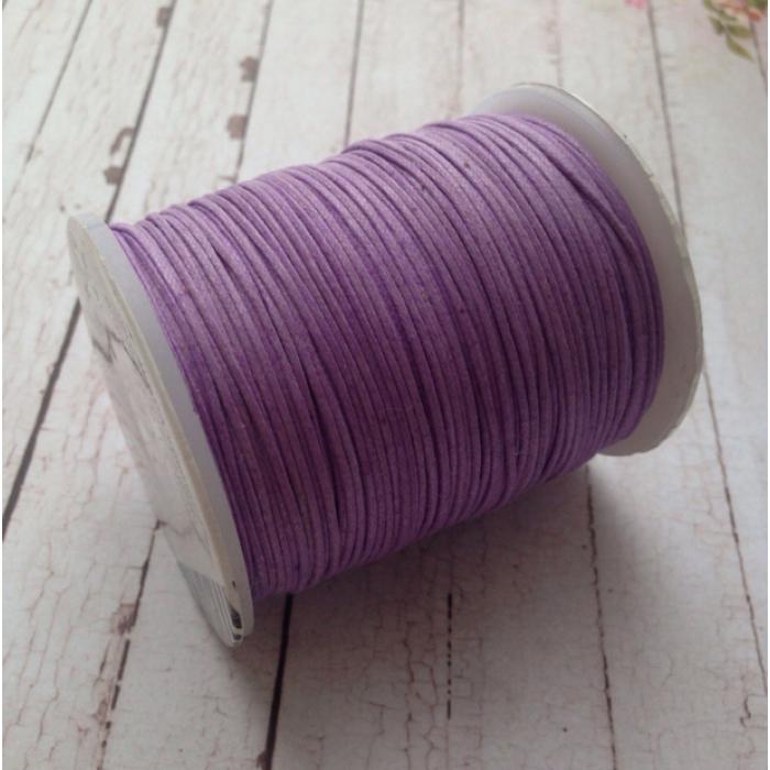 Розово-сиреневый вощёный шнур для скрапбукинга