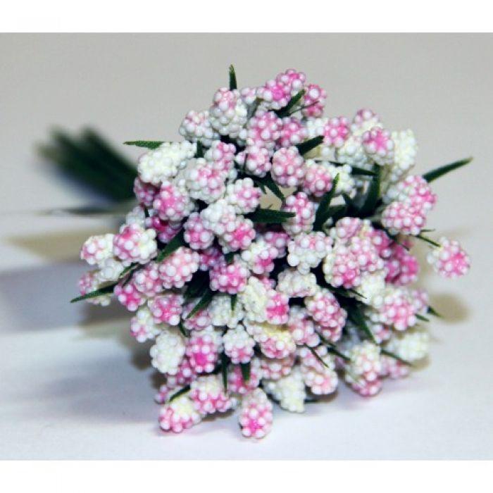 Розовый декоративный букет для скрапбукинга