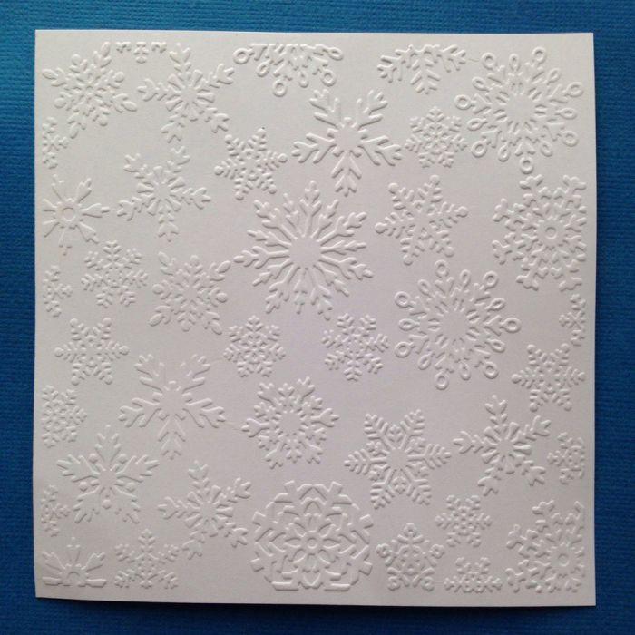Снежинки, тисненый картон для скрапбукинга